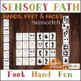 HANDS, FEET and FACES Sensory Path, Hopscotch for preschool, school, home