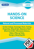 HANDS-ON SCIENCE (LOWER) - NATURAL AND PROCESSED MATERIALS UNIT (Y1/P2, Y2/P3)