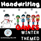 HANDWRITING Games Winter Themed