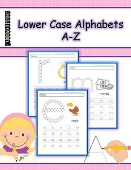 HANDWRITING - LOWER CASE ALPHABETS (a - z)