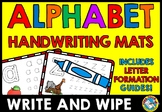 ALPHABET TRACING SHEETS OR MATS (ALPHABET WRITE AND WIPE CARDS)