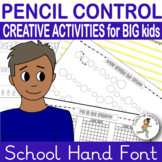 {PENCIL CONTROL WORKSHEETS} {handwriting for older children}