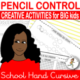 {PENCIL CONTROL} {handwriting older students} {fine motor worksheets}