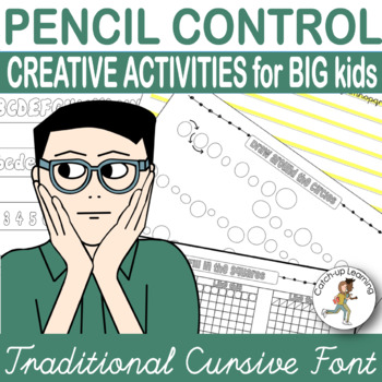 HANDWRITING Practice {pencil control worksheets} {Older students} 37 PAGES!