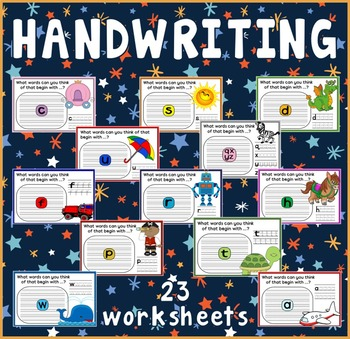 HANDWRITING WORKSHEETS TEACHING RESOURCES ENGLISH WRITING LETTERS colour
