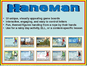 "HANGMAN - ""IDIOMS"" - Interactive slides with 10 unique game boards"
