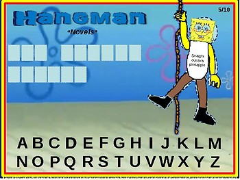 """HANGMAN - """"NOVELS"""" - Interactive slides with 10 unique game boards"""