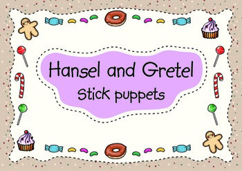 HANSEL AND GRETEL STICK PUPPETS