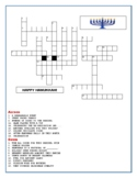 HANUKKAH: A CROSSWORD PUZZLE W/ ANSWER KEY GRS. 4-8