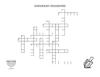 HANUKKAH CROSSWORD PUZZLE