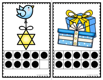 HANUKKAH Math Center - Count the Room  {BUNDLE}