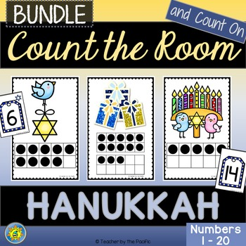 HANUKKAH Math Center - Count the Room  {BUNDLE}