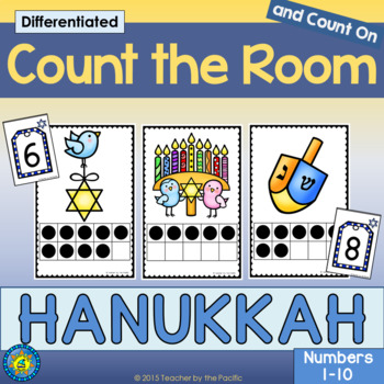 HANUKKAH Math - Count the Room - Ten Frames and Numbers 1 - 10 | TpT