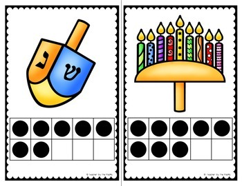 HANUKKAH Math - Count the Room - Ten Frames and Numbers 1 - 10