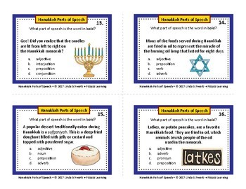 HANUKKAH PARTS OF SPEECH • GRADES 4–6
