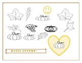 HAPPY AUTUMN COLORING PAGE!