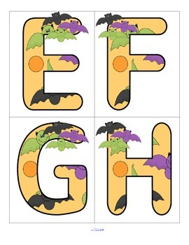 Halloween BATS Alphabet  FREE