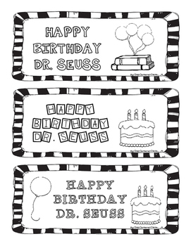 Happy Birthday Dr. Seuss Bookmarks
