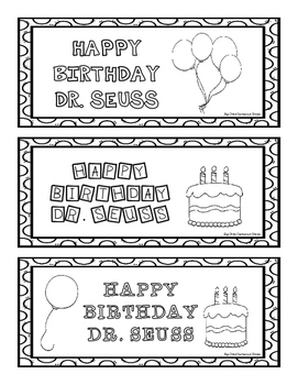 HAPPY BIRTHDAY DR. SEUSS PACKET