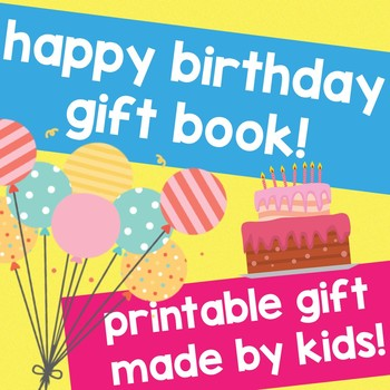Happy BIRTHDAY GIFT book made by Kids - an easy Homemade GIFT!