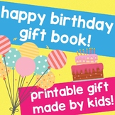 HAPPY BIRTHDAY! NO PREP GIFT book made by KIDS! An easy Ho