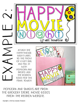 STUDENT BIRTHDAY GIFT TAGS