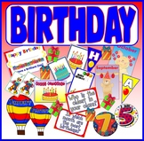 HAPPY BIRTHDAY TEACHING RESOURCES EYF KS1-2 DISPLAY MONTHS CLASSROOM CARDS