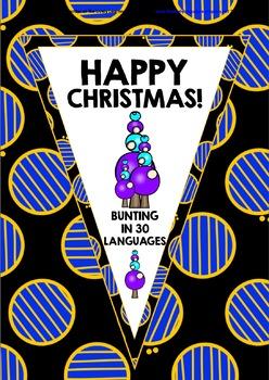 CHRISTMAS: HAPPY CHRISTMAS BUNTING BANNERS