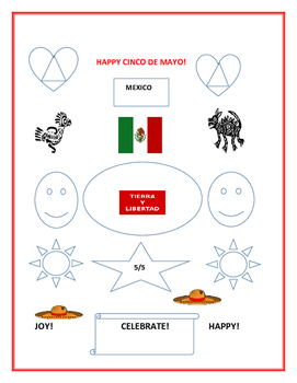 HAPPY CINCO DE MAYO- COLORING PAGE #3