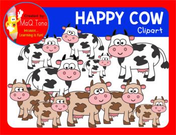 HAPPY COWS CLIPART