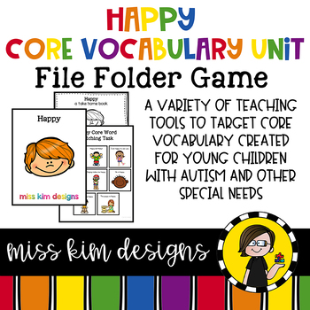 HAPPY Core Vocabulary Unit for Teachers of Students with Autism & Special Needs