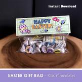 HAPPY EASTER Favor Bags - Chocolate Kiss Bag - PDF file -