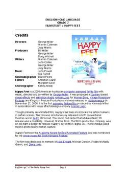 HAPPY FEET - Middle School film study