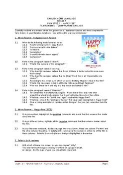 HAPPY FEET - movie reviews - comparative analysis