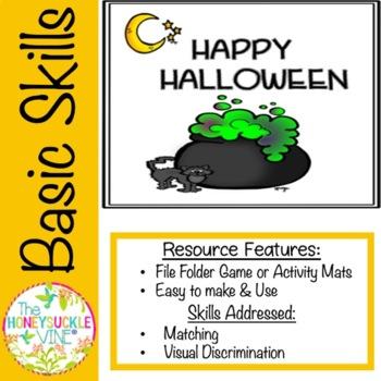 HAPPY HALLOWEEN FILE FOLDER GAME