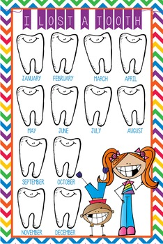 HAPPY KIDz - Classroom Decor: I lost a TOOTH - size 24 x 36