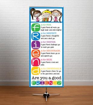 HAPPY KIDz - Classroom Decor: LARGE BANNER, FRIENDS