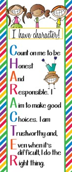 HAPPY KIDz - Classroom Decor: LARGE BANNER, I have CHARACTER