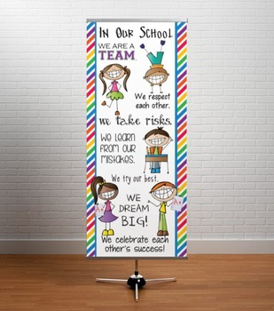 HAPPY KIDz - Classroom Decor: LARGE BANNER, In Our School