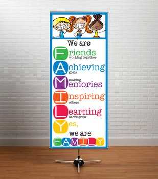 HAPPY KIDz - Classroom Decor: LARGE BANNER, We Are FAMILY
