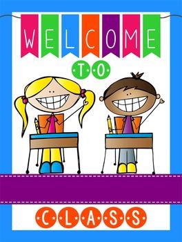HAPPY KIDz - Classroom Decor: WELCOME Poster - 18 x 24, yo