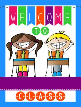 HAPPY KIDz - Classroom Decor: WELCOME Poster - 18 x 24, you personalize, C