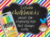 HAPPY KIDz - Classroom Decor: editable chalkboard POSTERS / Bistro Chalk Markers