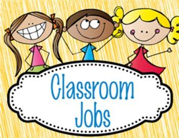 HAPPY KIDz - Classroom Helpers JOBS clip chart