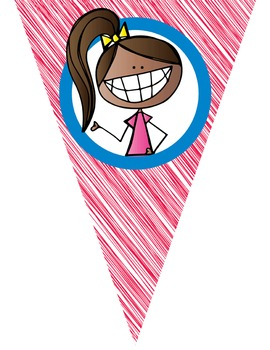 HAPPY KIDz Classroom Decor - Triangle Banners, Create A Banner