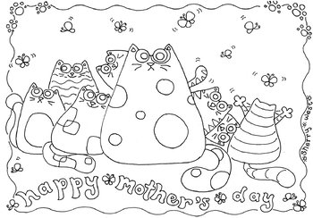 Happy Mothers Day Coloring Page Clip Art By Sing In The Spring