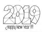 HAPPY NEW YEAR!!! 2019 Geometric