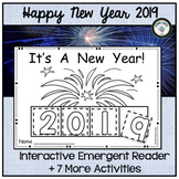 HAPPY NEW YEAR 2019 INTERACTIVE EMERGENT READER WITH 8 ACTIVITIES