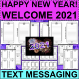 HAPPY NEW YEAR 2021!  Text Messaging Activities!  Social M