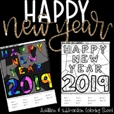 HAPPY NEW YEAR! Addition and Subtraction Coloring Sheet!